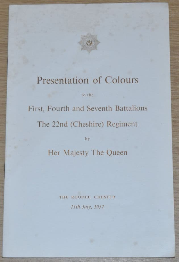 Presentation of Colours to the First Fourth and Seventh Battalion The 22nd Cheshire Regiment, 1957