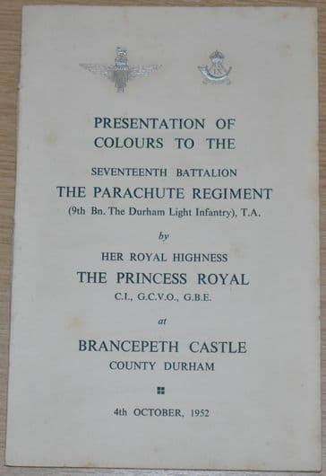 Presentation of Colours to the Seventeenth Battalion The Parachute Regiment, 4th October 1952