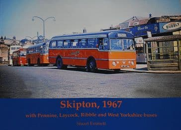 Skipton 1967, with Pennine, Laycock, Ribble and West Yorkshire Buses, by Stuart Emmett
