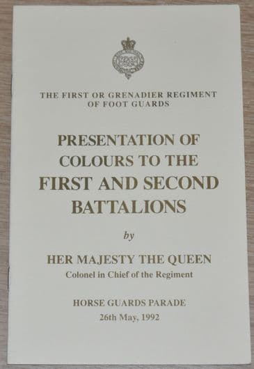 The First or Grenadier Regiment of Foot Guards Presentation of Colours, 1st Bn, 2nd Bn, 1992