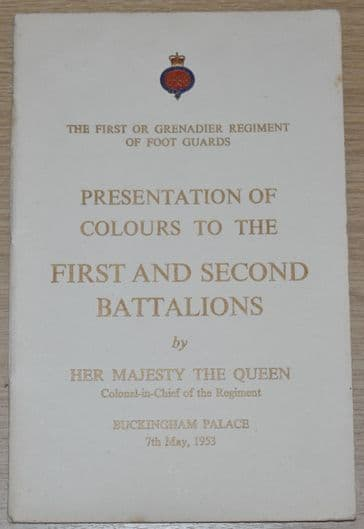 The First or Grenadier Regiment of Foot Guards Presentation of Colours to the 1st & 2nd Bn, 1953