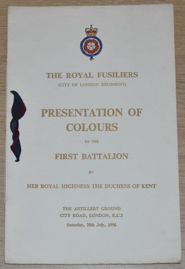 The Royal Fusiliers (City of London Regiment) Presentation of Colours to the First Battalion, 1956