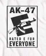 AK-47 'Rated E for Everyone' t-shirt