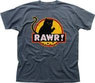 Awesome Jurassic Park inspired charcoal printed t-shirt (XS- 3XL) FN9245