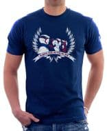 BATTLE OF THE PLANETS G-FORCE LOGO RETRO 80s Cartoon navy cotton 9805