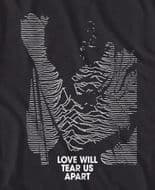 Joy Division Love will tear us apart, Ian Curtis t-shirt in black only