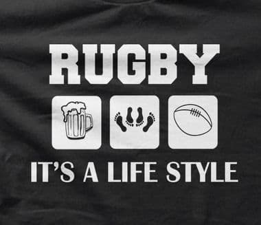 Rugby, it's a life style Funny t-shirt