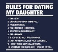 Rules for dating my daughter, Cool Dad Joke t-shirt