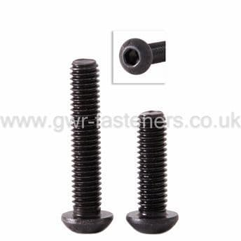 10-32 UNF Socket Button Head Screw - Self Colour Black
