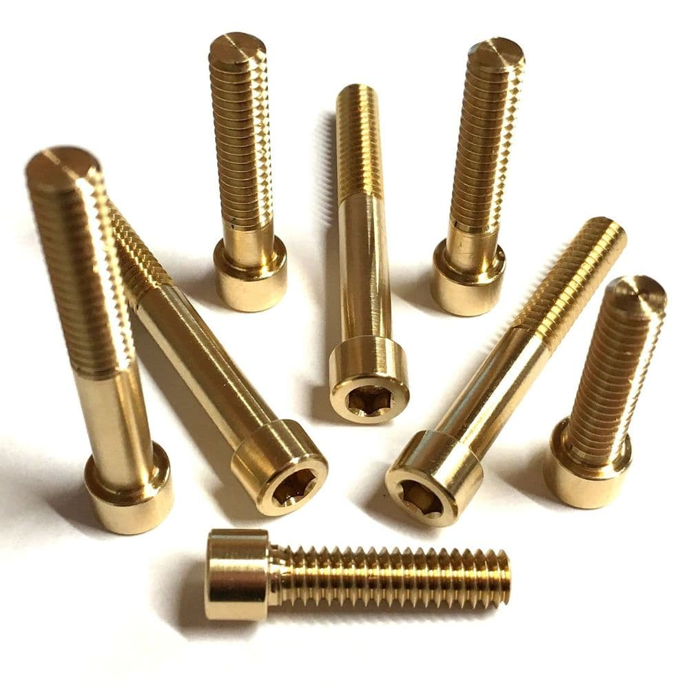 10-32 UNF Socket Cap Head Bolts - Brass
