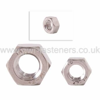 """3/8"""" BSF Full Nuts -BZP - 10 Pack"""