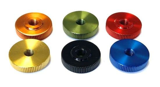 GWR Colourfast® Knurled Thumb Nuts Thin Type DIN 467 - A1 Stainless Steel