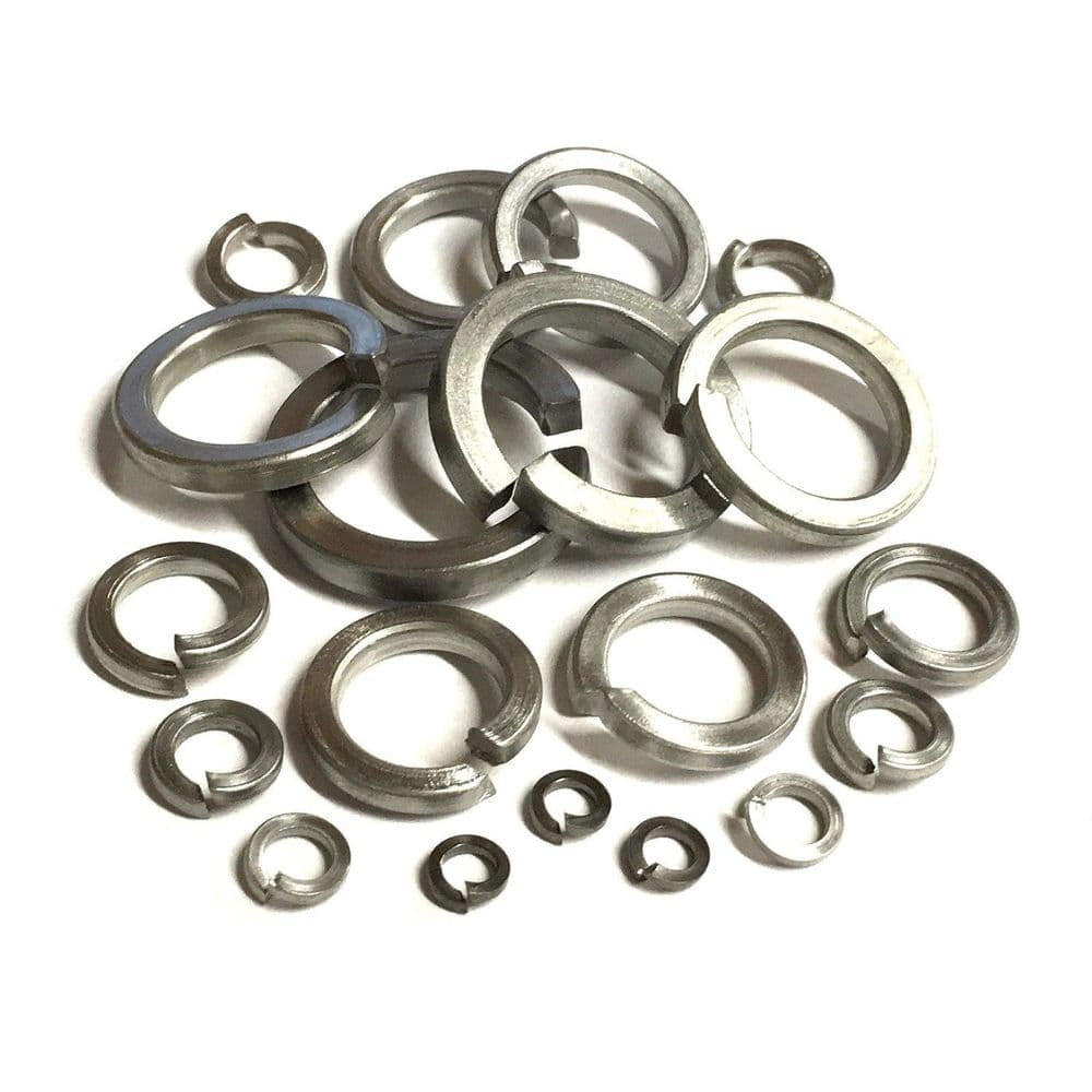 M10 Square Spring Washers DIN7980 - A4 Marine Grade Stainless Steel