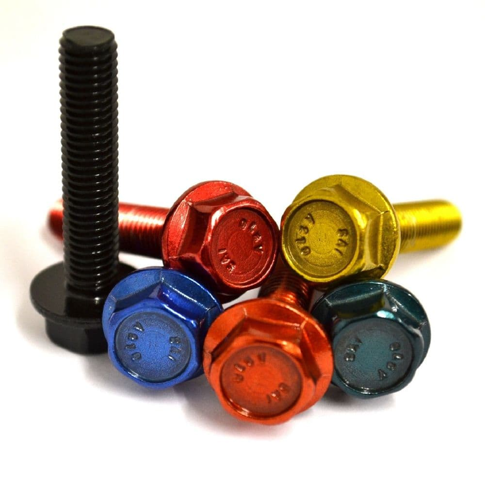M6 GWR Colourfast® Stainless Steel Hex Flanged Bolts