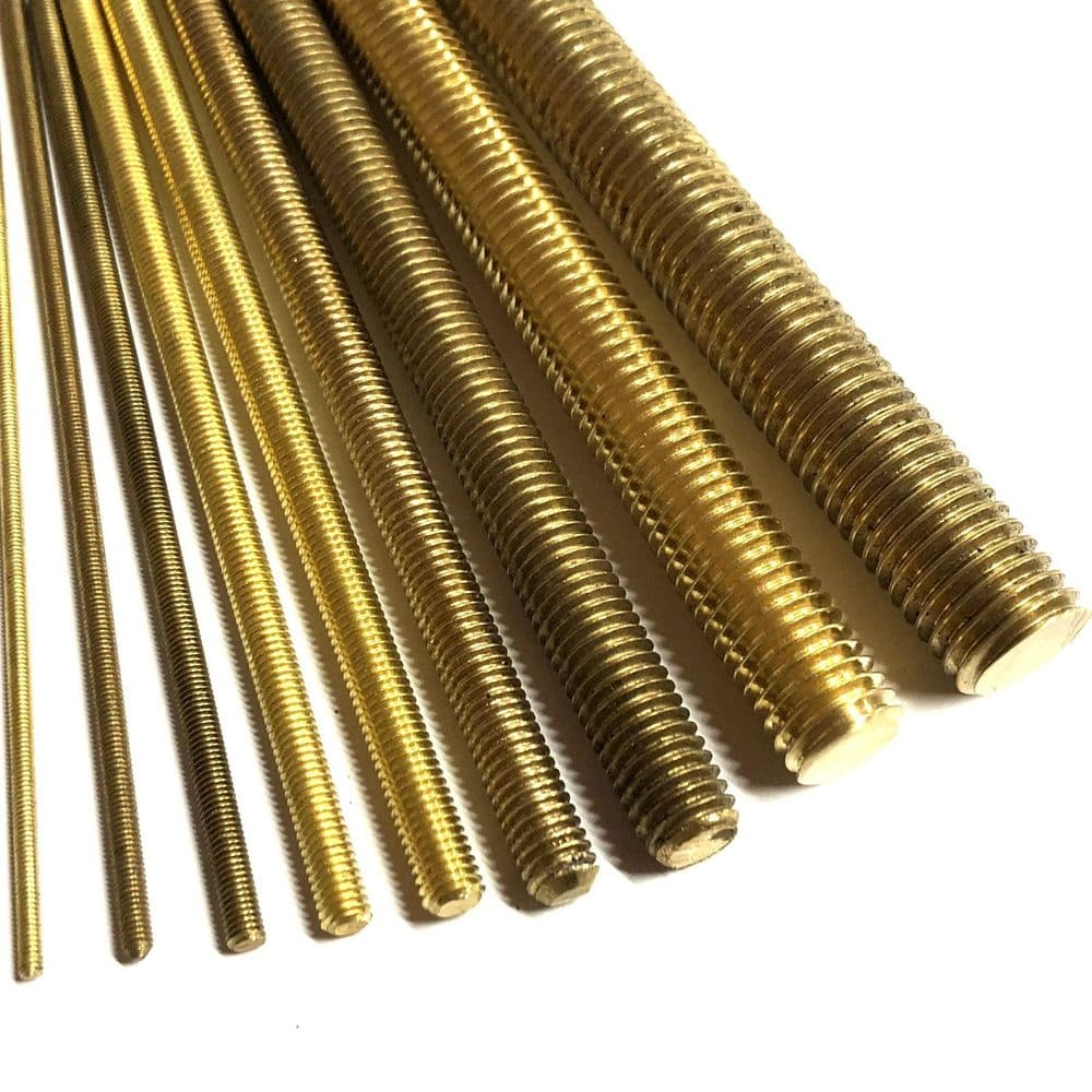 M6 Threaded Bar - Brass
