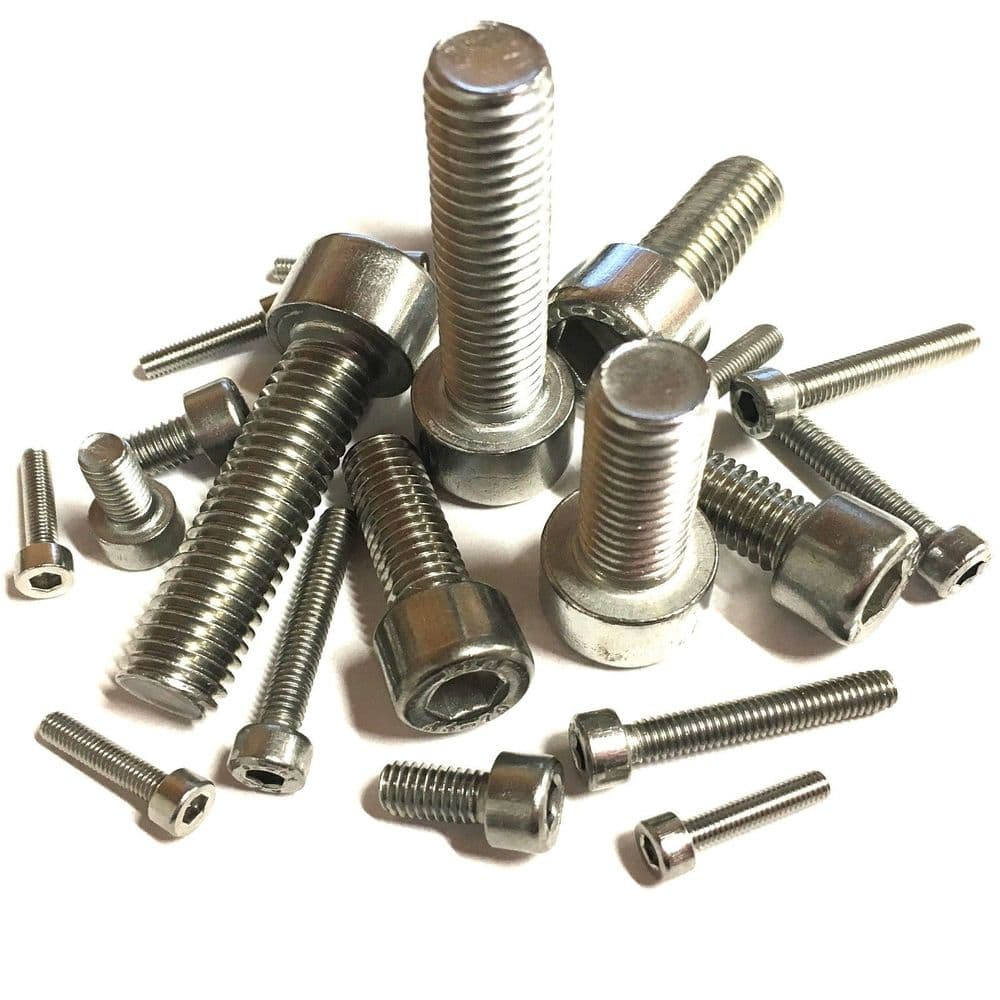 M6 x 40mm Socket Cap Head Screws DIN 912 - A4 Marine Grade Stainless Steel