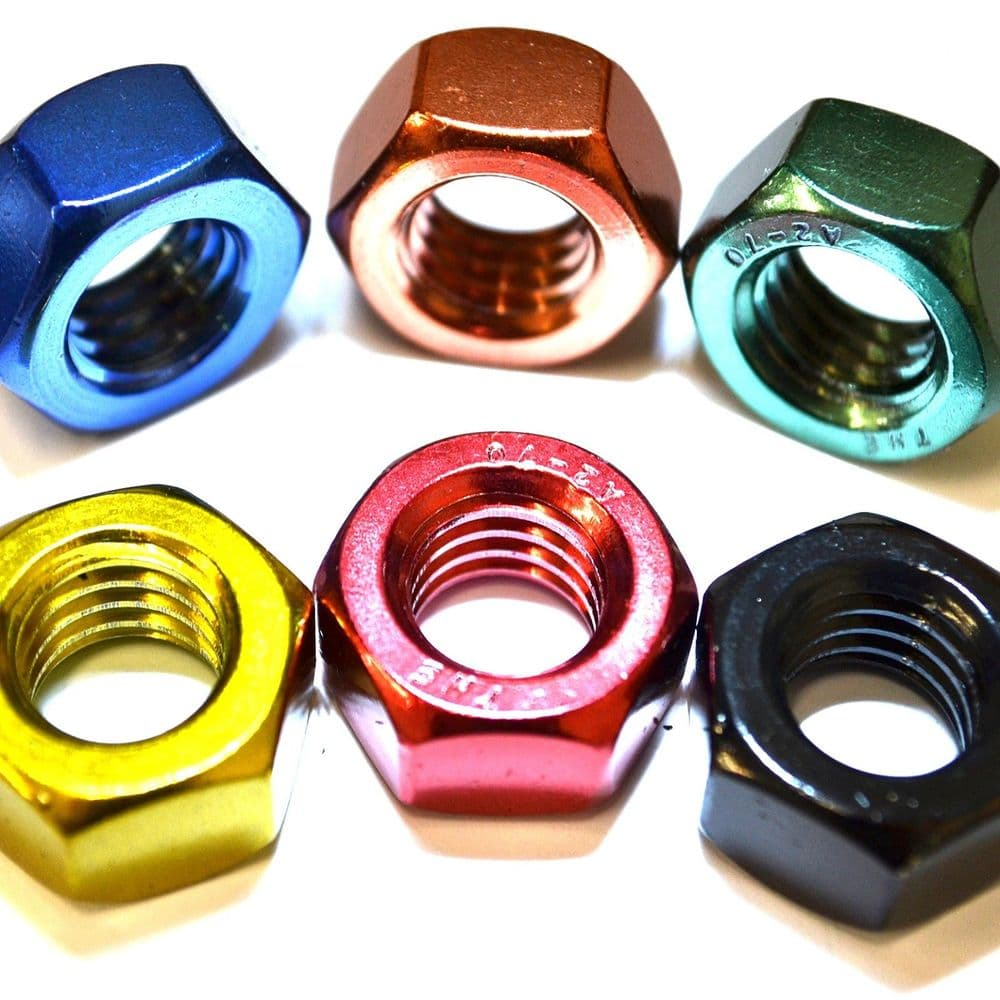 M7 GWR Colourfast® Stainless Hex Full Nuts