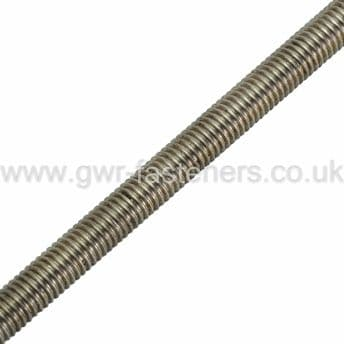 M8 x 1m Threaded Bar - A2 Stainless Steel Left Hand