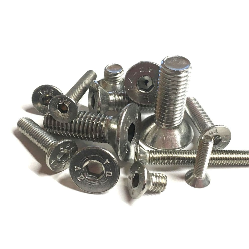 M8 x 90mm Socket Countersunk Screws - A2 Stainless Steel