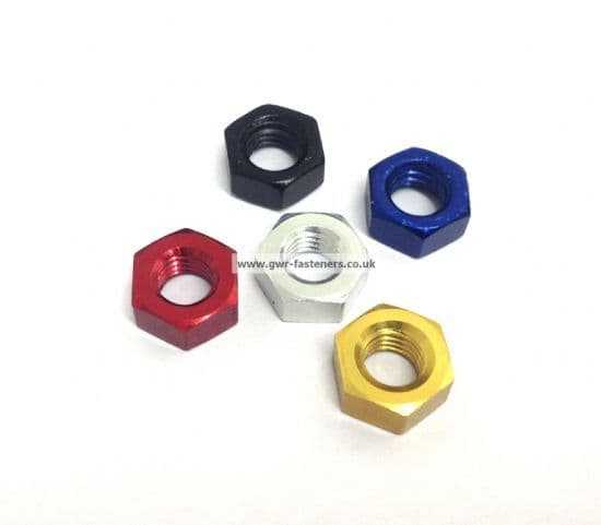Metric Full Nuts - Aluminium Anodised
