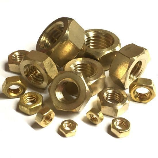 Metric Full Nuts - Brass