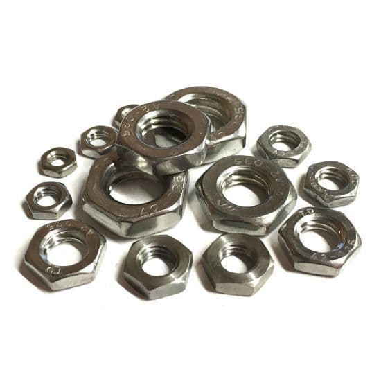 Metric Half Nuts - A2 Stainless Steel