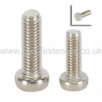 Metric Slotted Cheese Head Screws - A2 Stainless Steel