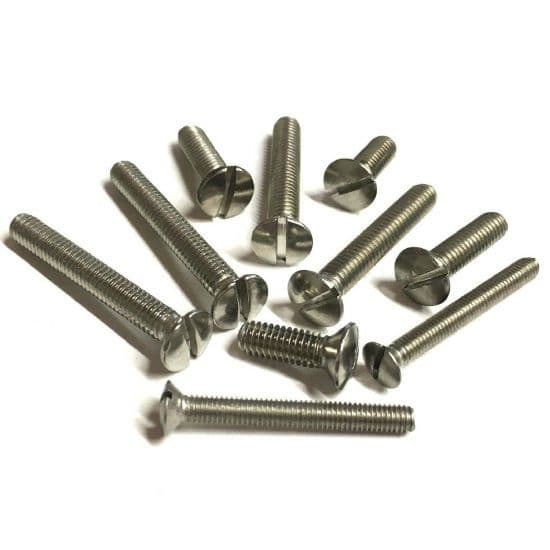 Metric Slotted Raised Countersunk Screws - A2 Stainless Steel