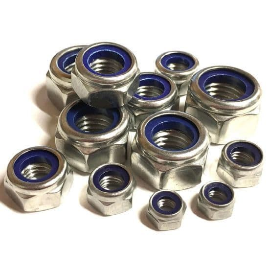 Metric T Type Nyloc Nuts - DIN 985