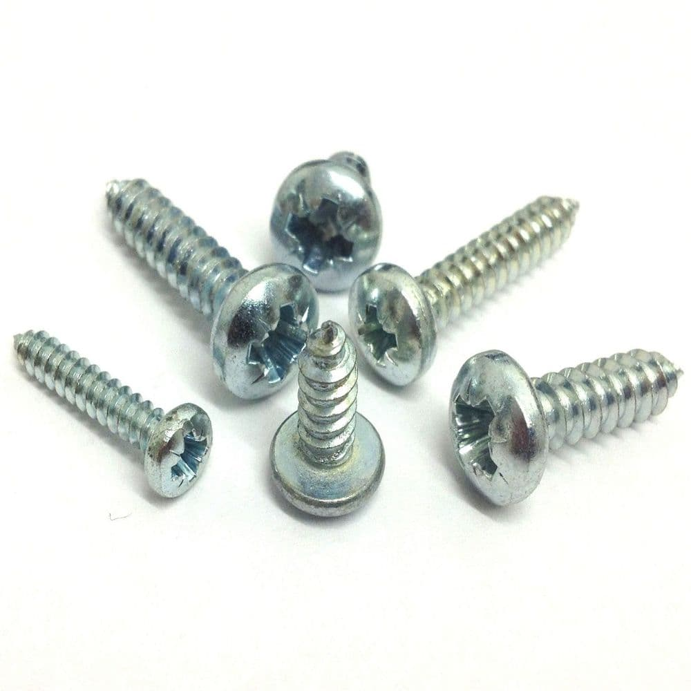 Self Tapping Pan Head Cross-Recess BZP - Size 6 - 100 Pack