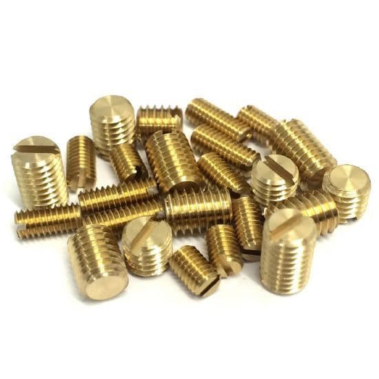 Slotted with Flat End Grub Screws