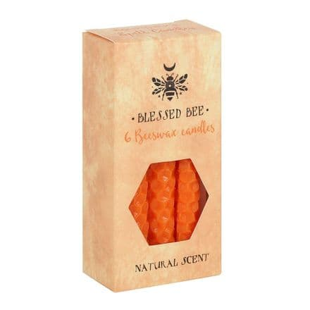 Blessed Bee Beeswax Orange Spell Candles