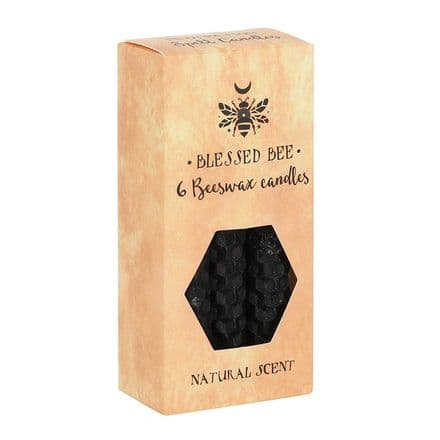 Blessed Bee Beeswax Spell candles Black, Protection
