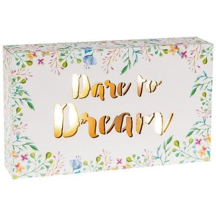 Dare to Dream LED Floral Words Oblong Plaque