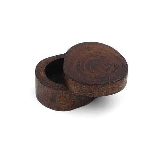 Dark Wood Log Trinket Box