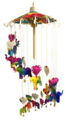 Fair Trade Paper Elephant Mobile Colourful Stunning