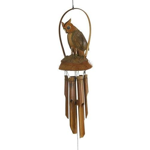 Fairly Traded Owl Wind Chime