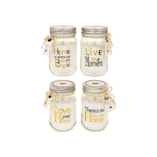 Home Sentiments Large Candle