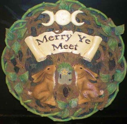 Latex Mould for a Pagan Merry Ye Meet Plaque