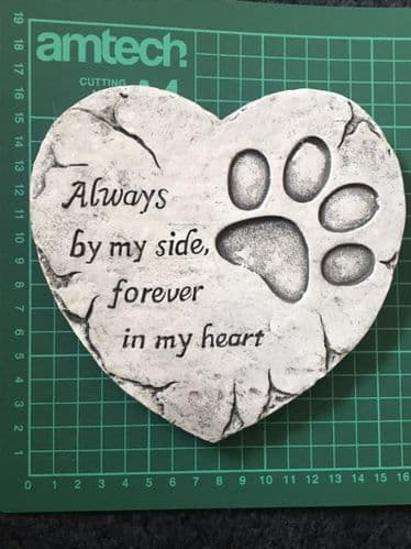 Latex Mould to Create this Heart Pet Memorial Plaque
