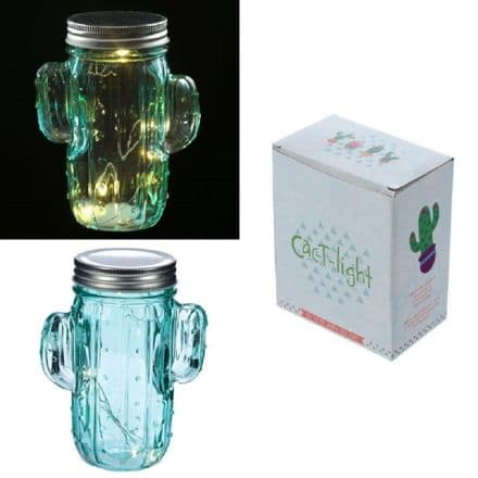 LED Cactus Shape Light Jar