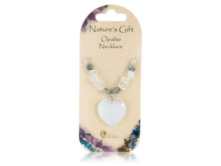 Natures Gift Opalite Heart Pendant Necklace