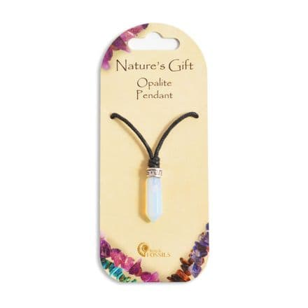 Natures Gift Opalite Point Pendant
