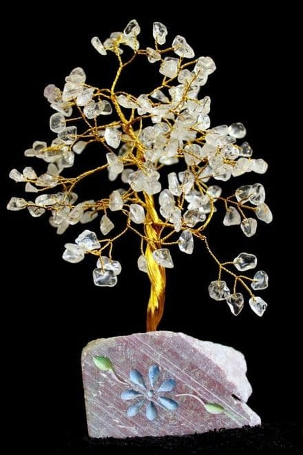 Rock Quartz Gem Tree 160 Leaves