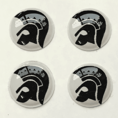 Trojan Head Black and White Background Hankie Pin 10mm