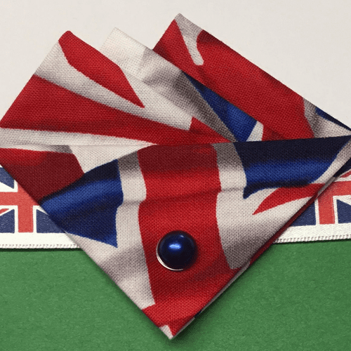 Union Jack Three Point Pocket Hankie & Pin