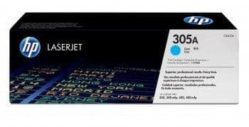 HP 305A Cyan Original Toner Cartridge CE411A, 2600 pages