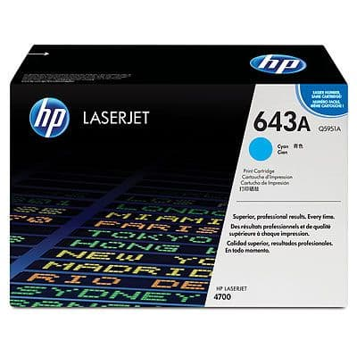 HP 643A Cyan Original Toner Cartridge (Q5951A)