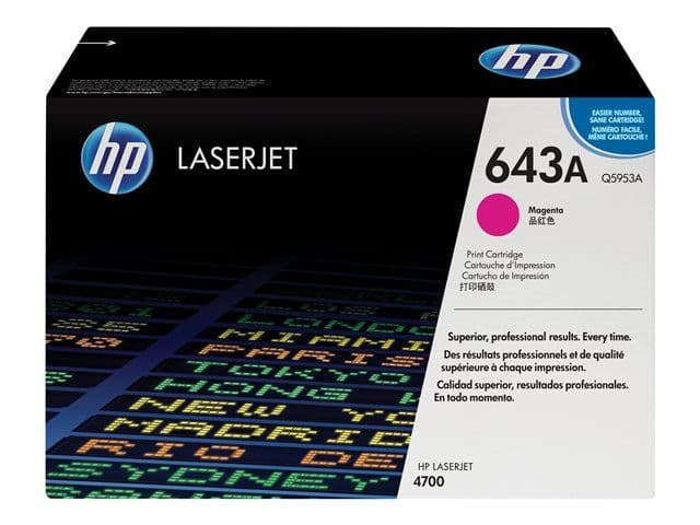 HP 643A Magenta Original Toner Cartridge (Q5953A) 10,000 pages