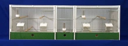 JH TREBLE BREEDING CAGE + BABY CAGE -  FINCH / CANARY ~ 124X40X40